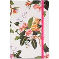 Caderneta Tropical Pontado Flora - Rosa