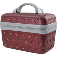 Frasqueira Love- Vinho & Cinza- 29X17X23Cm- Jackjacki Design