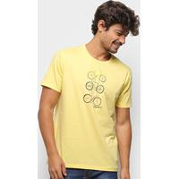 Camiseta Aleatory Bike Lover Masculina - Masculino-Amarelo