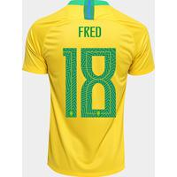 9eb8dcd7ae Netshoes  Camisa Seleção Brasil I 2018 Nº 18 Fred - Torcedor Nike Masculina  - Masculino