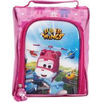 Lancheira Super Wings Infantil Feminina - Feminino-Rosa