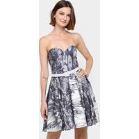 Vestido Lança Perfume Tomara-Que-Caia Curto Lady Like - Feminino