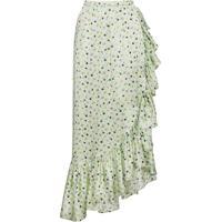 Attico Saia De Seda Floral - Verde