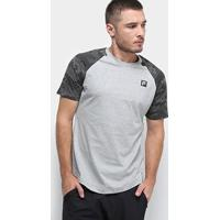 Camiseta Fila Sports Camo Raglan Masculina - Masculino-Cinza
