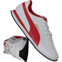 Tênis Puma Turin Ii Branco E Vermelho