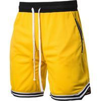 Bermuda Masculina Com Cordão - Amarelo M