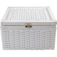 Caixa Organizadora C/ Fecho 30X30X17 - Branco