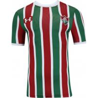 Camisa Do Fluminense I 2017 Under Armour - Jogador - Vinho Branco ea74985873d43