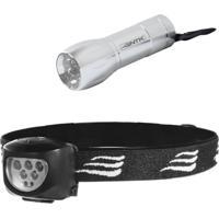 Lanterna De Cabeça 7 Leds Dragster + Mini 9 Blitz Nautika