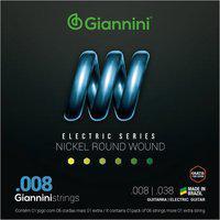Encordoamento Leve Para Guitarra Elétrica Giannini Geegst8 Aço