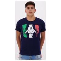 Camiseta Kappa Itália Estampada Marinho