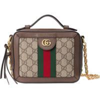Gucci Mini Ophidia Gg Shoulder Bag - Marrom