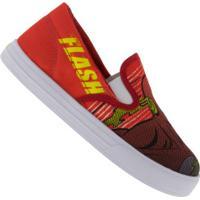 Tênis Slip On Liga Da Justiça The Flash - Infantil - Vermelho/Preto