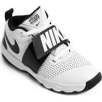 Tênis Infantil Nike Team Hustle D8 Masculino - Masculino-Branco+Preto