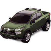 Carrinho Roda Livre - Pick Up - Fiat Toro - Verde - Roma Jensen