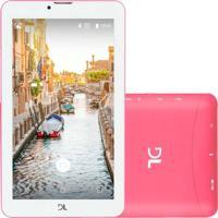 """Tablet Dl Futura 7"""" Wi-Fi 8Gb Quad Core Tx393Pre/Pin Pink"""