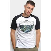 Camiseta Hd Raglan Branch Masculina - Masculino-Branco