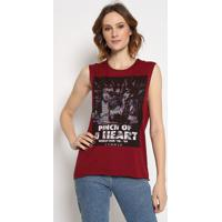 """Blusa """"Pinch Of A Heart"""" - Vinho - Sommersommer"""