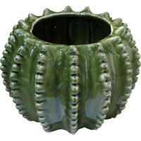 Cachepot Urban Home De Cerâmica Verde Barrel Cactus 40395 N