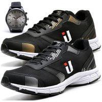 Kit 2 Tênis Masculino Ousy Shoes Training Academia Ultraleve Brinde Relógio Dourado E Preto