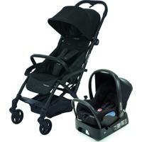 Carrinho De Bebê Com Bebê Conforto Citi Travel System Laika Nomad Preto, Assento Acolchoado E Cinto De Segurança - Maxi-Cosi