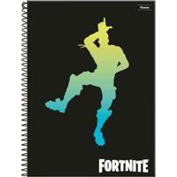 Cadernos De Espiral - Capa Dura - Universitário - 10 Matérias - Fortnite - 2 Unidades - Dança - Foroni