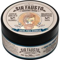 Creme De Barbear Sir Fausto 200Ml - Masculino-Incolor