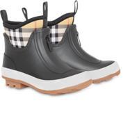 Burberry Kids Vintage Check Neoprene And Rubber Rain Boots - Preto