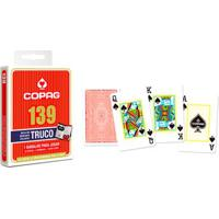 Jogo De Cartas - Baralho Profissional - 139 Truco - Vermelho - Copag