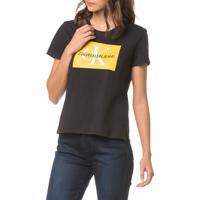 Blusa Ckj Fem Logo - Preto - Pp