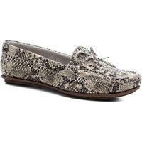 Mocassim Couro Shoestock Tramado Laço Feminino - Feminino-Off White