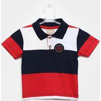 Camisa Polo Infantil Milon Estampa Listrada Masculina - Masculino