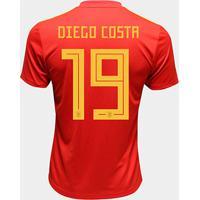 Camisa Seleção Espanha Home 2018 N° 19 Diego Costa - Torcedor Adidas Masculina - Masculino