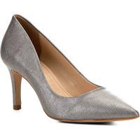 Scarpin Shoestock Salto Médio Metalizado - Feminino-Prata