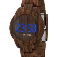Relógio Lince Digital Madeira Feminino - Feminino