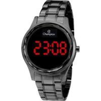 Relógio Champion Digital Feminino - Feminino-Preto