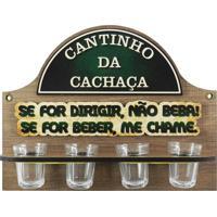 Cantinho Da Cachaça C/ 4 Copos Dirigir... Kasa Ideia