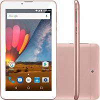 "Tablet Multilaser M7-3G Nb271 7"" 8Gb Wi-Fi Rosa"