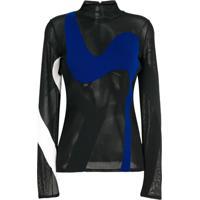 Proenza Schouler Blusa De Tricot Color Block - Preto