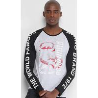 Camiseta Ecko Raglan Manga Longa Masculina - Masculino