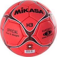 Bola De Handebol H3 Padrão Ihf Mikasa - Masculino-Vermelho