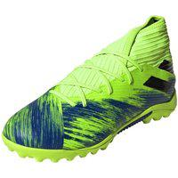Chuteira Infantil Society Adidas Nemeziz 19.3 Tf Verde E Azul