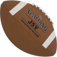 Bola De Futebol Americano Spalding Oficial J5V - Infantil - Laranja Escuro