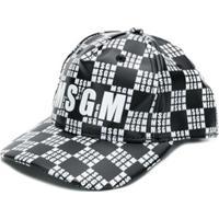 Msgm Kids Boné Com Logo - Branco