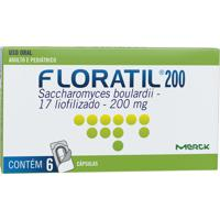 Floratil 200Mg Merck 6 Cápsulas Gel Dura