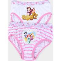 Kit Calcinha Infantil Lupo Disney Princesas 2 Peças - Feminino-Rosa Claro