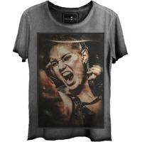 Camiseta Estonada Gola Canoa Steam Punk Corte A Fio