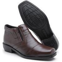 Bota Social Masculina Sw Shoes Botina Couro Marrom Infantil E Adulto
