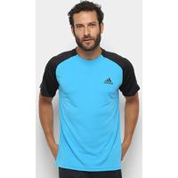 Camiseta Adidas Club Td Masculina - Masculino-Azul+Preto