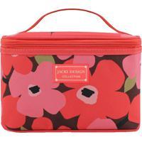Nécessaire Floral- Coral Rosa- 15X23X15Cm- Jacjacki Design
